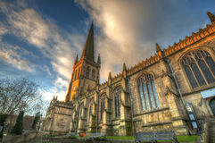 Wakefield Cathedral. United Kingdom. Medieval Cathedral in Wakefield, West Yorkshire, United Kingdom stock photography