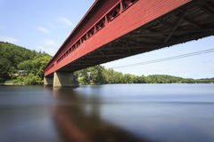 Wakefield Covered Bridge Royaltyfri Bild