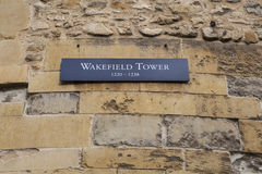Wakefield Tower at the Tower of London. A view of the Wakefield Tower at the Tower of London. A total of 21 towers make up the historic Tower of London royalty free stock photo