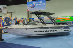 Wakesetter boat on display Stock Image