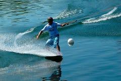 Wakeskater in slalom Royalty Free Stock Photography