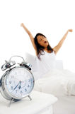 Waking alarm clock Royalty Free Stock Photos