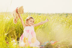 Waking little girl Stock Photography