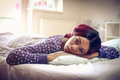 Waking up. royalty free stock photo