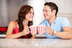 Waking up with coffee Royalty Free Stock Photo