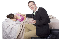 Waking Up Daughter Stock Images