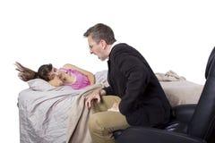 Waking Up Daughter Royalty Free Stock Image