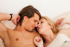 Waking up together Stock Images