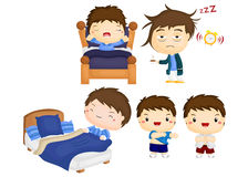 Waking up vector set Royalty Free Stock Image