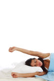 Waking woman Royalty Free Stock Photography