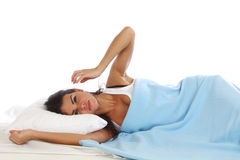 Waking woman Royalty Free Stock Images