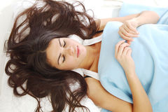 Waking woman Stock Images