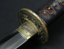 Wakizashi (tsuba/blade) Stock Photos