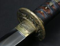 Wakizashi (tsuba/lâmina) Fotos de Stock