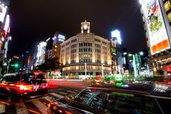 Wako budynek w Ginza Zdjęcia Stock