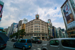 WAKO-varuhus, Ginza, Tokyo, Japan Arkivfoton