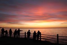 Wal-Beobachter, Punkt Vicente, Kalifornien Stockfoto