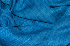 Wal indygowa tkanina fotografia royalty free