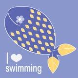 Wal mag schwimmen Stockbilder