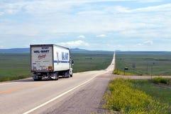 Wal-markt vrachtwagen Royalty-vrije Stock Afbeeldingen