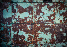 Wal marrom-ciano oxidado foto de stock