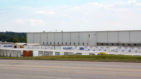 Wal-Mart Distribution Center. One small section of a giant Wal-Mart Distribution Center Royalty Free Stock Photography