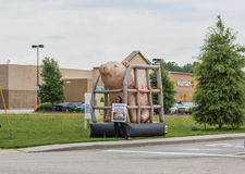 Wal-Mart Pork Protest Stock Image