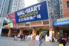 WAL-MART shopping mall Stock Photos