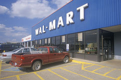 Wal Mart Supercenter Store front stock photo