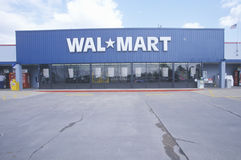 Wal * Mart Supercenter Store  front entrance and parking lot in Southeast USA Royalty Free Stock Image