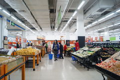 WAL-MART supermarket Royalty Free Stock Photography