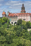 WALBRZYCH,波兰- 2016年7月07日:城堡Ksiaz在Walbrzych,  免版税库存图片