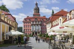 WALBRZYCH,波兰- 2016年7月07日:城堡Ksiaz在Walbrzych,  图库摄影