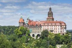 WALBRZYCH, POLÔNIA - 7 DE JULHO DE 2016: Castelo Ksiaz em Walbrzych, dentro foto de stock royalty free