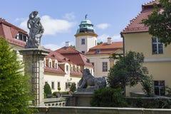 WALBRZYCH, POLÔNIA - 7 DE JULHO DE 2016: Castelo Ksiaz em Walbrzych, dentro fotos de stock