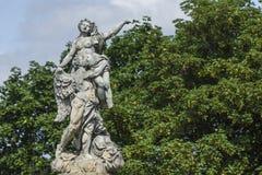 WALBRZYCH POLEN - JULI 07, 2016: Härliga monument nära Ksia Arkivbilder