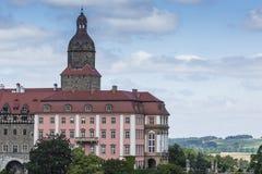 WALBRZYCH, POLONIA - 7 DE JULIO DE 2016: Castillo Ksiaz en Walbrzych, adentro foto de archivo