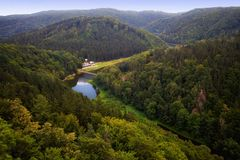 Walbrzyskie and Owl Mountains Stock Photo