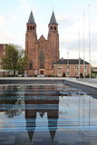 Walburg basilika i Arnhem Arkivbild