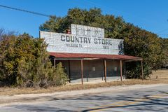 Walburg Country Store Now Abandoned Royalty Free Stock Photos