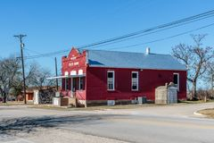 Walburg State Bank, Red and White Royalty Free Stock Photo