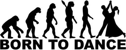 Walc ewolucja - Urodzona tanczyć ilustracja wektor