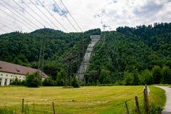 Walchensee能源厂一个水力发电站 库存图片