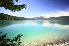 湖walchensee 库存照片