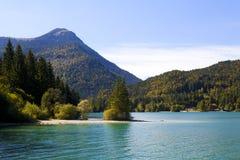 Walchensee in alpi bavaresi, Germania Immagine Stock Libera da Diritti