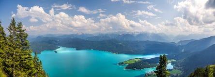 Walchensee jezioro w Kochel, Niemcy Fotografia Royalty Free