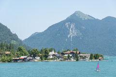 Walchensee and Jochberg Royalty Free Stock Photo