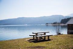 Walchensee, lago no bavaria fotos de stock royalty free