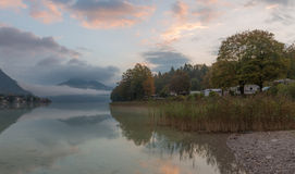 Walchensee during Sunrise Stock Images