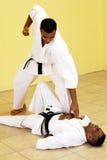 walcząc z karate. Obrazy Stock